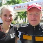 Elina und Joey beim Santanderlauf