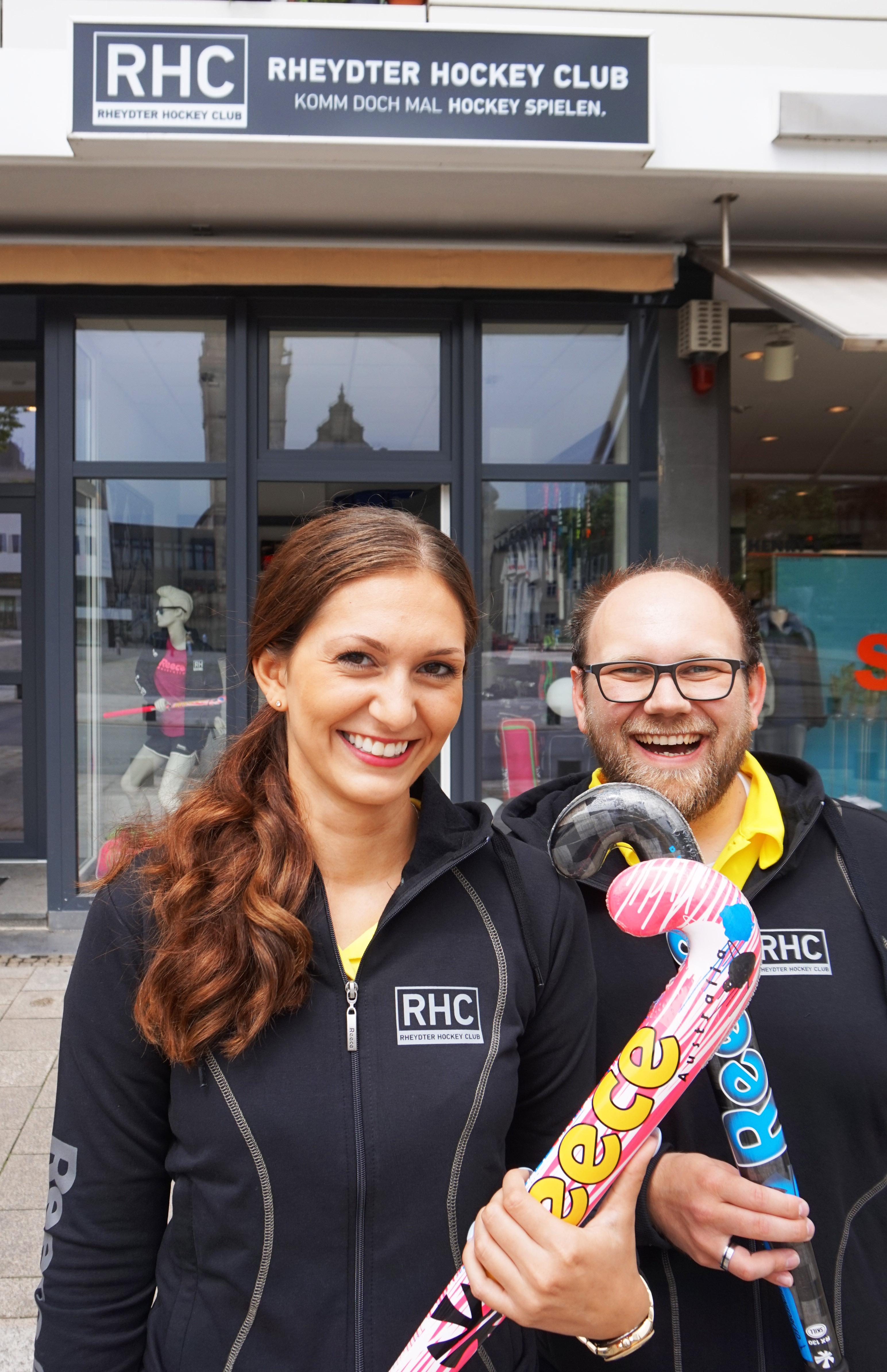 Leyla Durmaz und Sebastian Bähren leiten die neue Geschäftsstelle des RHC (v.l.)